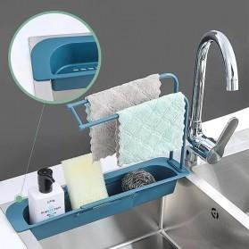 YOKEIT Rak Saring Serba Guna Tempat Cuci Piring Sink Drain Shelf - QNPO - White - 6