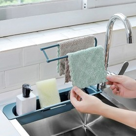 YOKEIT Rak Saring Serba Guna Tempat Cuci Piring Sink Drain Shelf - QNPO - White - 7