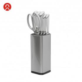 KNIFEZER Tempat Pisau Dapur Stand Tool Knife Holder Stainless Steel - SUS430 - Silver