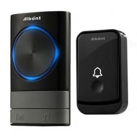 Aibont Bel Pintu Wireless Doorbell LED 45 Tunes 1 PCS Receiver 1 PCS Transmitter - Q189 - Black - 1