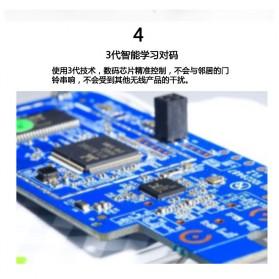 Aibont Bel Pintu Wireless Doorbell LED 45 Tunes 1 PCS Receiver 1 PCS Transmitter - Q189 - Black - 4