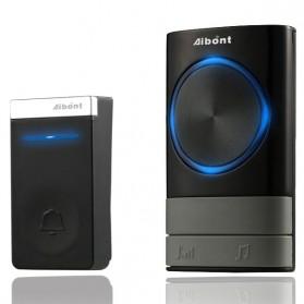 Aibont Bel Pintu Wireless Doorbell LED 45 Tunes 1 PCS Receiver 1PCS Transmitter - N189 - Black