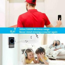 Aibont Bel Pintu Wireless Doorbell LED 45 Tunes 1 PCS Receiver 1PCS Transmitter - N189 - Black - 3