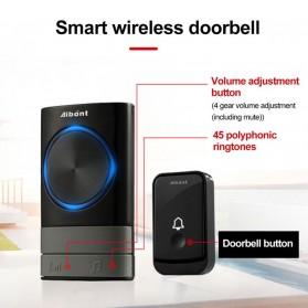 Aibont Bel Pintu Wireless Doorbell LED 45 Tunes 1 PCS Receiver 1PCS Transmitter - N189 - Black - 6
