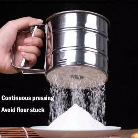 Winnereco Saringan Pengayak Icing Gula Tepung Mekanis Flour Shaker Stainless Steel - WE474 - Silver