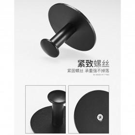 VEAMOVE Gantungan Dinding Kapstok Hook Hanger Aluminium - LM-122 - Black - 2
