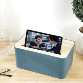 Zenxin Kotak Tisu Kayu Tissue Box with Smartphone Holder - ZJ009 - Green
