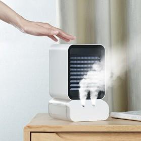 Kipas Angin Portable Mini Air Cooler Evaporative Humidifier Spray - CH09 - White