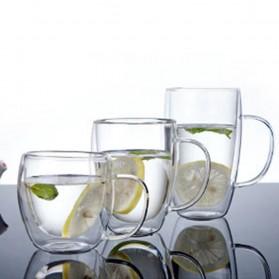NEYDA Gelas Cangkir Kopi Anti Panas Double-Wall Borosilicate Glass Round Series 150ml - Transparent - 3
