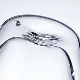 NEYDA Gelas Cangkir Kopi Anti Panas Double-Wall Borosilicate Glass Round Series 150ml - Transparent - 4