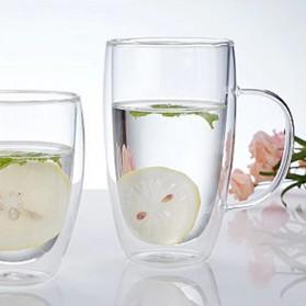 NEYDA Gelas Cangkir Kopi Anti Panas Double-Wall Borosilicate Glass Round Series 150ml - Transparent - 8