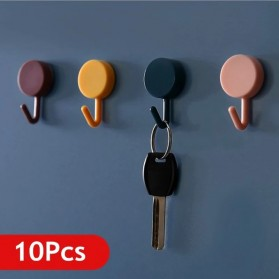 Gantungan Kunci Hook Wall Hanger Adhesive 10PCS - GT10A - Black White