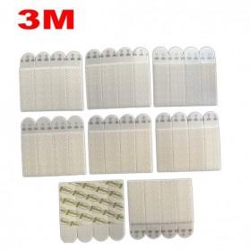 NIKTO 3M Command Lakban Velcro Hook and Loop Magic Nylon Sticker 6 PCS - M1720 - White - 3