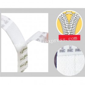 NIKTO 3M Command Lakban Velcro Hook and Loop Magic Nylon Sticker 6 PCS - M1720 - White - 5