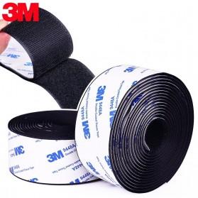 NIKTO Lakban Velcro Hook Magic Nylon Sticker 25.4mm 3meter - ZNK006 - Black
