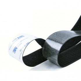 NIKTO Lakban Velcro Hook Magic Nylon Sticker 25.4mm 3meter - ZNK006 - Black - 3