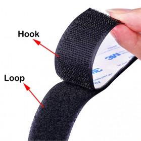 NIKTO Lakban Velcro Hook Magic Nylon Sticker 25.4mm 3meter - ZNK006 - Black - 7