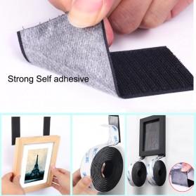 NIKTO Lakban Velcro Hook Magic Nylon Sticker 25.4mm 3meter - ZNK006 - Black - 8