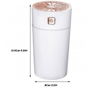 MUQGEW Air Humidifier LED Night Light 280ml - JSQ-101 - White - 9