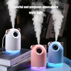 Alloet Air Humidifier LED Night Light 220ml - H61 - White - 2