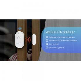 Fuers TUYA Smart Alarm Sensor Pintu Jendela Rumah WiFi - WIFID01 - White - 8