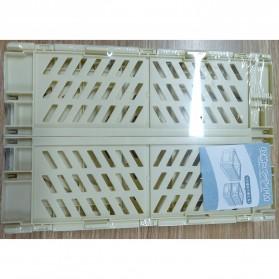 Mrosaa Rak Organizer Lipat Collapsible Container Box - 5AC1 - Yellow - 8