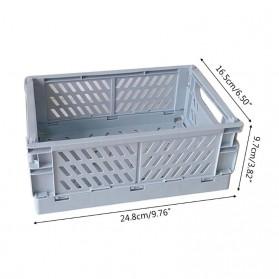 Mrosaa Rak Organizer Lipat Collapsible Container Box - 5AC1 - Yellow - 7
