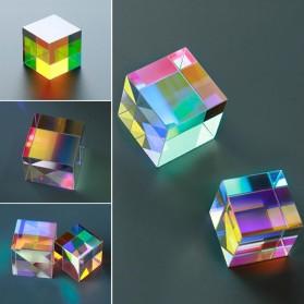 VAHIGCY Dekorasi Prisma Six Sided Bright Light Cube - VAH12 - Transparent