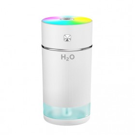 FENGZI Air Humidifier Aromatherapy Oil Diffuser Colorful Lights USB Rechargeable 240ml - FZ010 - White