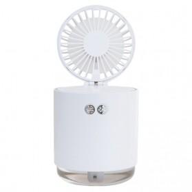 Cikuso Mini Humidifier Evaporative Atomizer Sprayer USB Rechargeable 210ml with Fan - CK003 - White