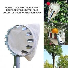 Perawatan Taman & Tumbuhan - DIDIHOU Jaring Net Pemetik Buah Garden Fruit Picker Collection Head Tool - A48 - Silver