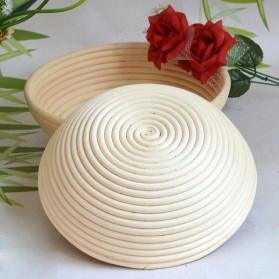 SHENHONG Cetakan Adonan Kue Rotan Bread Dough Rattan Banneton Basket 23x8cm - PJ537 - White