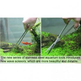 Leewince Gunting Capit Set Aquarium Aquascape Plants Grass Tweezer 6 PCS - T2 - Silver - 3