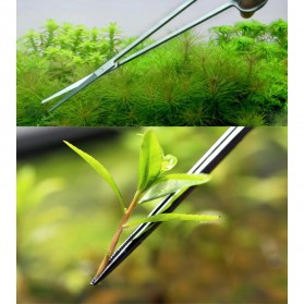 Leewince Gunting Capit Set Aquarium Aquascape Plants Grass Tweezer 6 PCS - T2 - Silver - 4