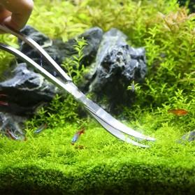 Leewince Gunting Capit Set Aquarium Aquascape Plants Grass Tweezer 6 PCS - T2 - Silver - 5