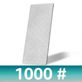MYVIT Pengasah Pisau Diamond Honeycomb Whetstone Knife Sharpener Double Sided 1000 & 400 - Wkss-05 - Silver - 3