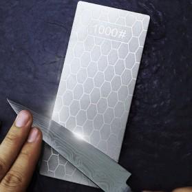 MYVIT Pengasah Pisau Diamond Honeycomb Whetstone Knife Sharpener Double Sided 1000 & 400 - Wkss-05 - Silver - 5