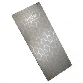 MYVIT Pengasah Pisau Diamond Honeycomb Whetstone Knife Sharpener Double Sided 1000 & 400 - Wkss-05 - Silver - 9