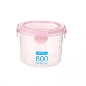 LISM Toples Wadah Penyimpanan Makanan Food Storage Container 600ml - H1212 - Pink
