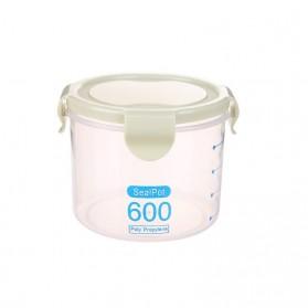 LISM Toples Wadah Penyimpanan Makanan Food Storage Container 600ml - H1212 - Green
