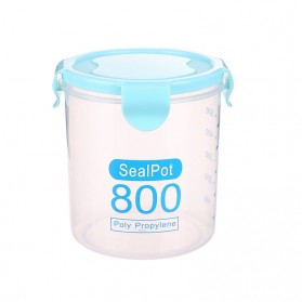 LISM Toples Wadah Penyimpanan Makanan Food Storage Container 800ml - H1212 - Blue