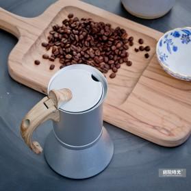 Teko Pembuat Kopi Espresso Coffee Maker Moka Pot Stovetop Filter 150ml - T0013 - Silver