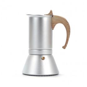 Teko Pembuat Kopi Espresso Coffee Maker Moka Pot Stovetop Filter 150ml - T0013 - Silver - 2