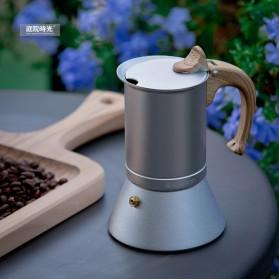 Teko Pembuat Kopi Espresso Coffee Maker Moka Pot Stovetop Filter 150ml - T0013 - Silver - 3