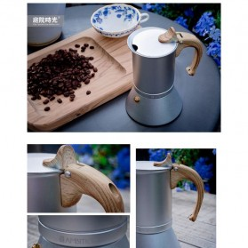 Teko Pembuat Kopi Espresso Coffee Maker Moka Pot Stovetop Filter 150ml - T0013 - Silver - 5
