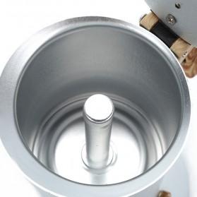 Teko Pembuat Kopi Espresso Coffee Maker Moka Pot Stovetop Filter 150ml - T0013 - Silver - 6
