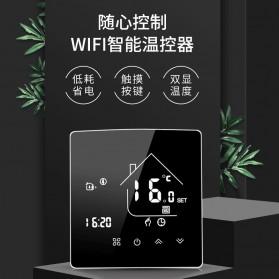 Thermometer & Alat Ukur Lainnya - AllbeAI Tuya Smart WiFi Floor Heating Thermostat Temperature Controller 16A - X5H-GB - Black