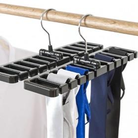 EECOO Gantungan Organizer Lemari Dasi Tali Pinggang Tie Belt Storage Rack - EE63 - Black