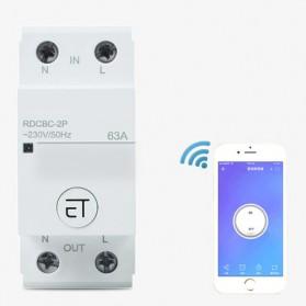 EARUELETRIC Modul Kontaktor Elektrik Smart Home DIY 63A 2P-AC 220V - White