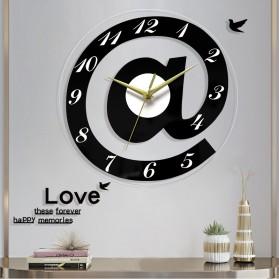 VOSARREA Jam Dinding Bulat Quartz Creative Design Modern 30CM - E4399 - Black - 2